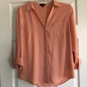 The Limited Peach Blouse